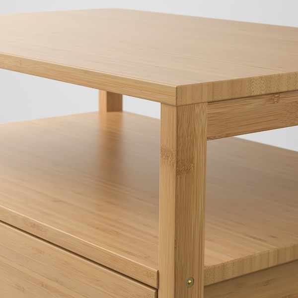 NORDKISA Bedside table, bamboo, 60x40 cm