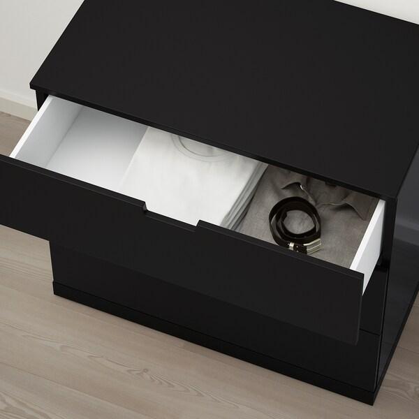 NORDLI chest of 3 drawers anthracite 80 cm 47 cm 76 cm 37 cm