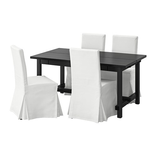 Nordviken Henriksdal Table And 4 Chairs Black Blekinge White