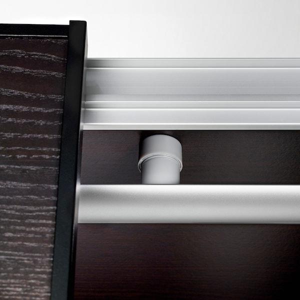 NORRFLY LED lighting strip, aluminium-colour, 92 cm