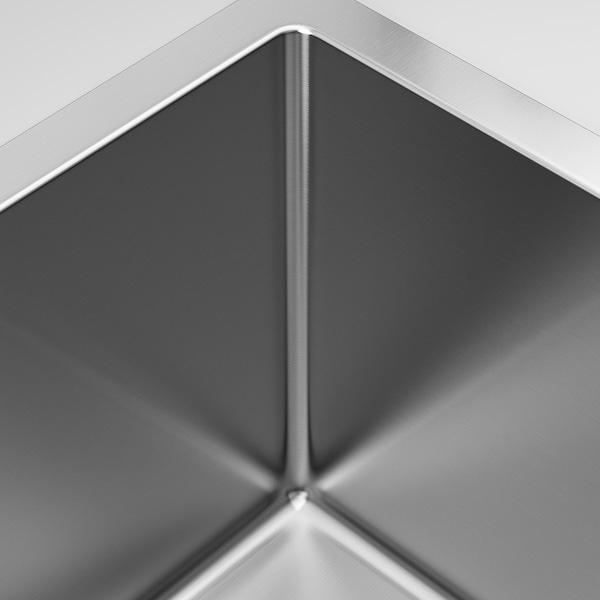 NORRSJÖN inset sink, 1 bowl stainless steel 18 cm 50 cm 40 cm 42.8 cm 52.8 cm 44 cm 54 cm 44.0 cm 26.0 l