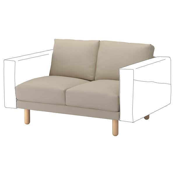 NORSBORG 2-seat section, Edum beige/birch