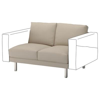NORSBORG 2-seat section, Edum beige/metal