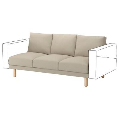 NORSBORG 3-seat section, Edum beige/birch