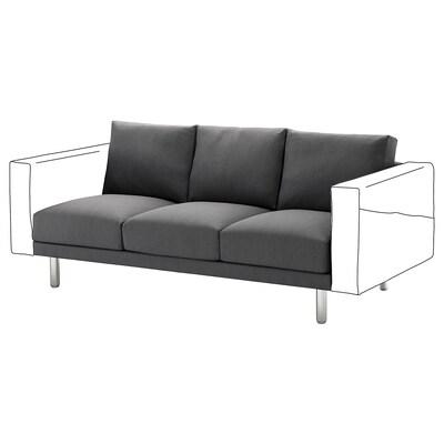 NORSBORG 3-seat section, Finnsta dark grey/metal