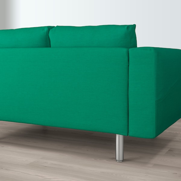 NORSBORG 4-seat sofa with chaise longue/Edum bright green/metal 293 cm 85 cm 88 cm 157 cm 43 cm