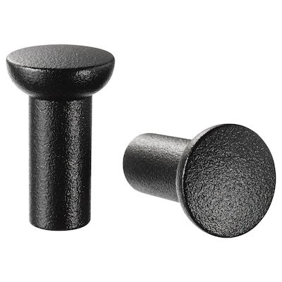NYDALA knob black 25 mm 16 mm 5 mm 2 pack