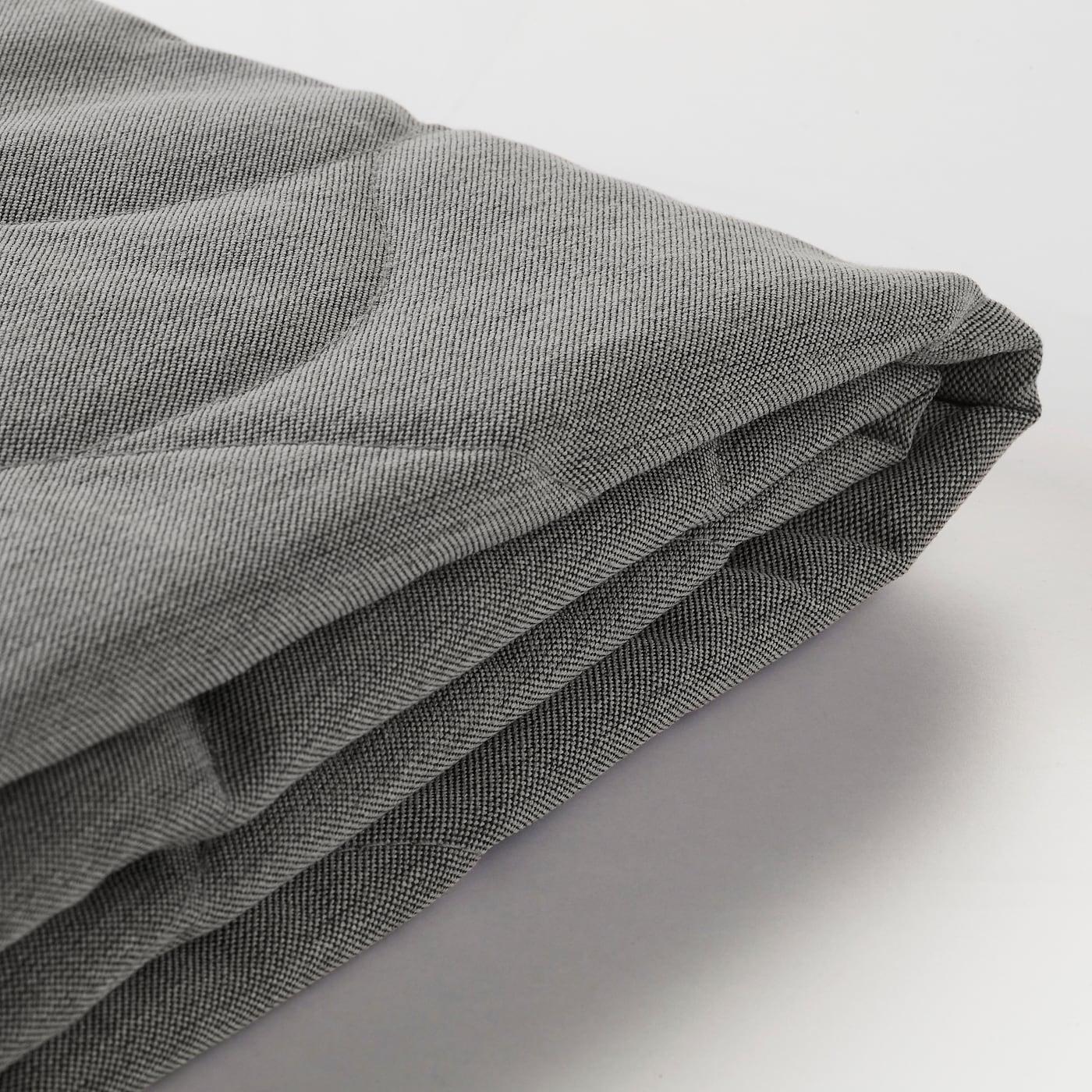 Ikea Beddinge Slaapbank Grijs.Nyhamn Three Seat Sofa Bed Cover Knisa Grey Beige Ikea