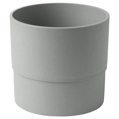 NYPON plant pot in/outdoor grey 15 cm 17 cm 15 cm 16 cm