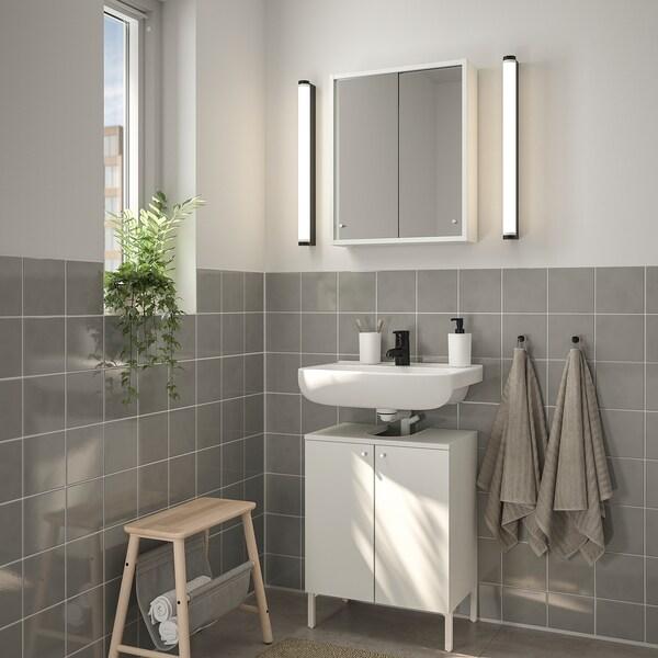 NYSJÖN / BJÖRKÅN Bathroom furniture, set of 5, white/Saljen tap, 54x40x80 cm