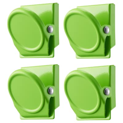 OLEBY Clip with magnet, green