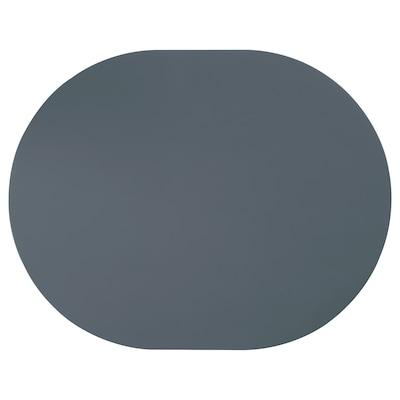 OMTÄNKSAM Place mat with anti-slip, blue-grey, 45x35 cm