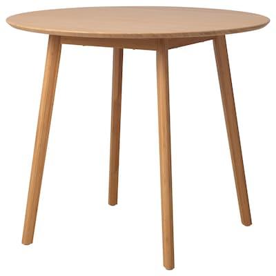 OPPLI Table, bamboo, 90 cm