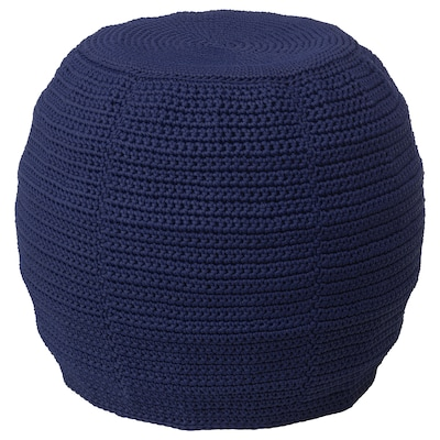 OTTERÖN / INNERSKÄR pouffe, in/outdoor blue 41 cm 48 cm