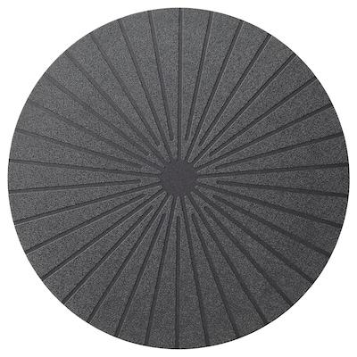 PANNÅ Place mat, black, 37 cm