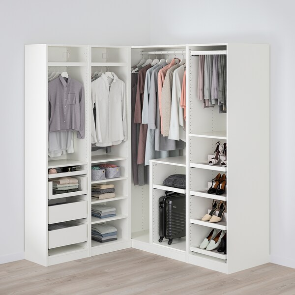 PAX corner wardrobe white 201.2 cm 162.8 cm 160.3 cm