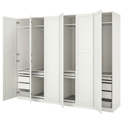 PAX / TYSSEDAL Wardrobe combination, white/white, 300x60x236 cm