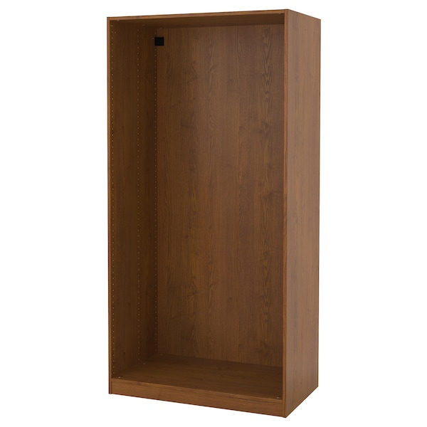 PAX Wardrobe frame, brown stained ash effect, 100x58x201 cm