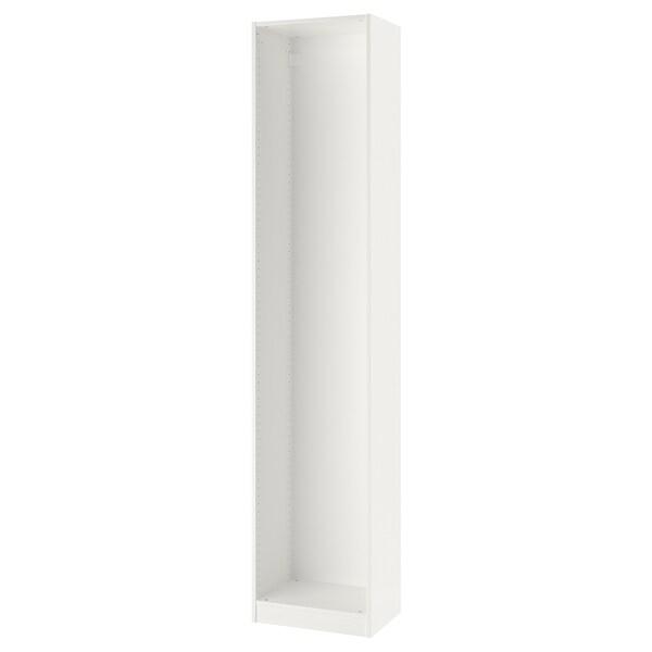 PAX Wardrobe frame, white, 50x35x236 cm