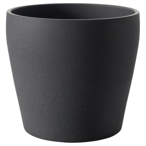 PERSILLADE plant pot dark grey 23 cm 24 cm 19 cm 22 cm