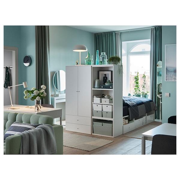 PLATSA bed frame with 2 door+3 drawers white/Fonnes 40 cm 243.9 cm 141.6 cm 43 cm 162.6 cm 200 cm 140 cm