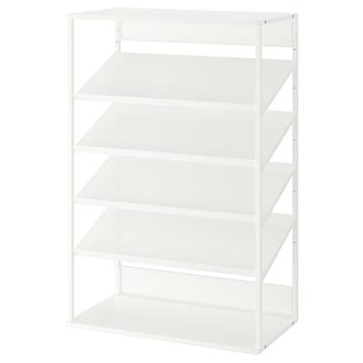 PLATSA Open shoe storage unit, white, 80x40x120 cm