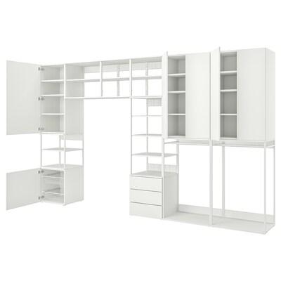 PLATSA storage comb w 6 doors+3 drawers white/Fonnes white 420 cm 42 cm 241 cm