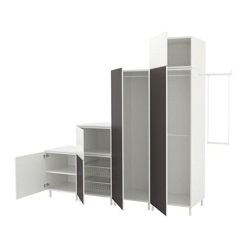 Platsa Wardrobe White Fonnes Skatval Dark Grey