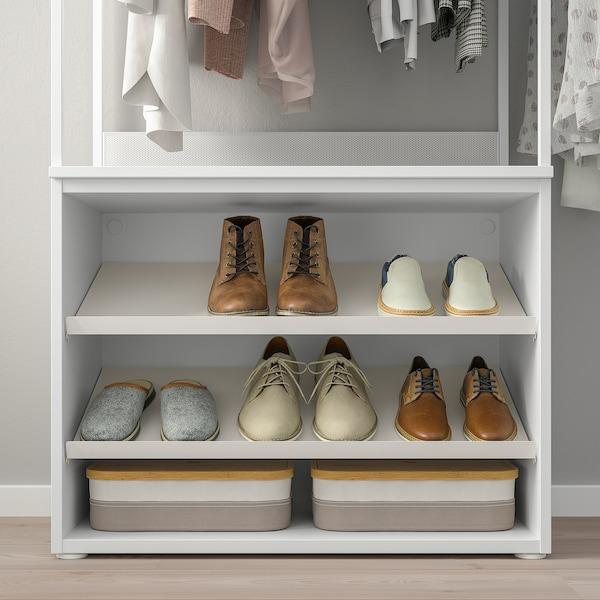 PLATSA Wardrobe with shoe shelves+2 doors, 115-140x42x241 cm
