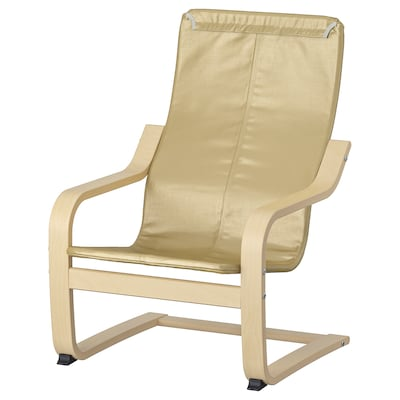 POÄNG children's armchair frame birch veneer 47 cm 56 cm 68 cm 38 cm 29 cm 24 cm
