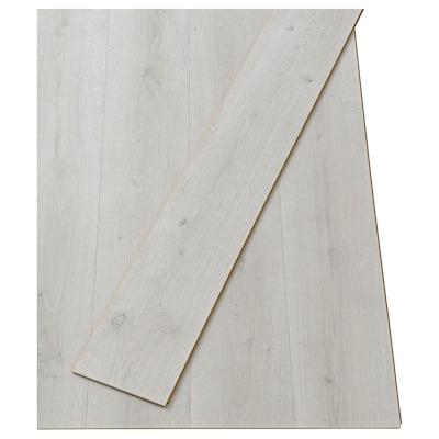 PRÄRIE Laminated flooring, oak effect white, 2.25 m²