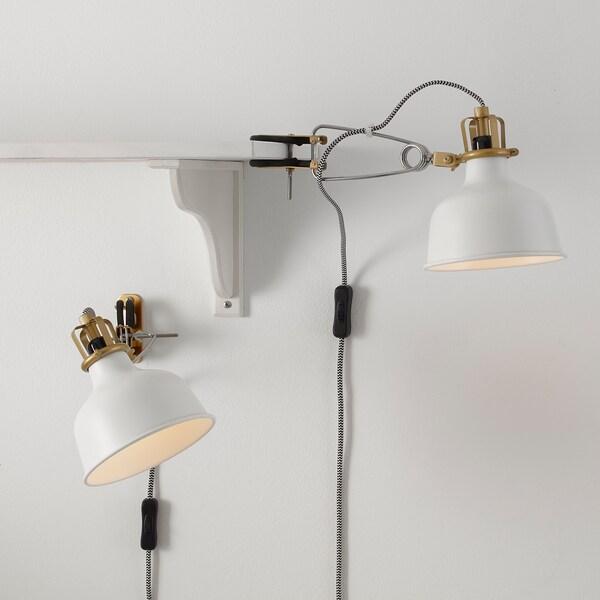 RANARP wall/clamp spotlight off-white 7 W 14 cm 34 cm 12 cm 14 cm 350.0 cm