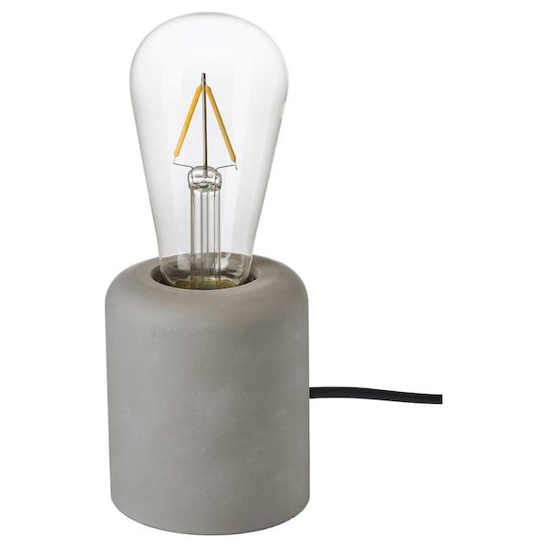 RÅSEGEL / LUNNOM Table lamp with light bulb, drop-shaped