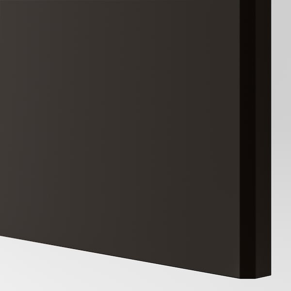 REINSVOLL Door with hinges, anthracite, 50x229 cm