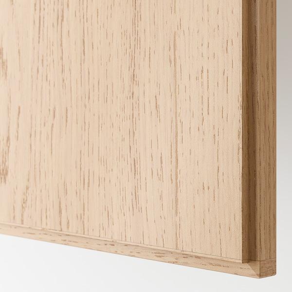 REPVÅG Door with hinges, white stained oak veneer, 50x229 cm