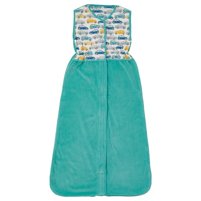RÖRANDE Sleeping bag, cars/turquoise