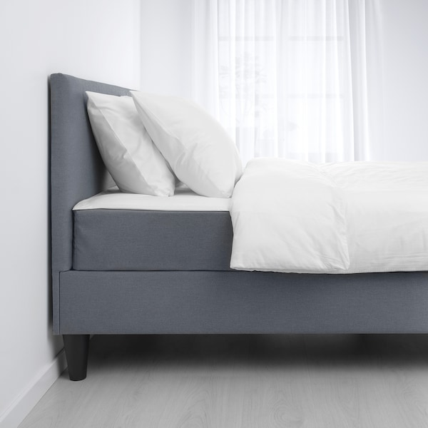SÄBÖVIK Divan bed, firm/Vissle grey, 140x200 cm