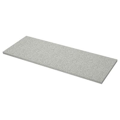 SÄLJAN worktop light grey mineral effect/laminate 246 cm 63.5 cm 3.8 cm