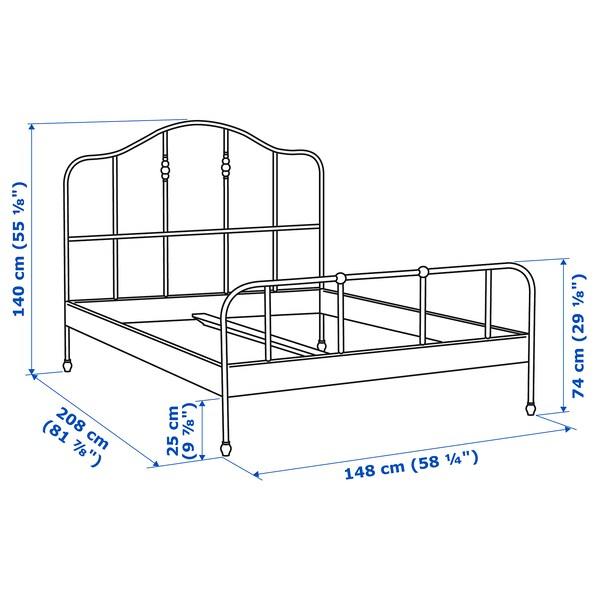 SAGSTUA Bed frame, black/Luröy, 140x200 cm