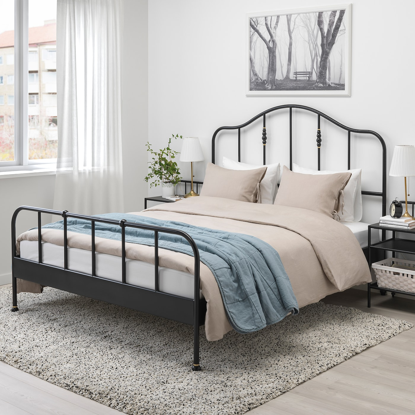 Sagstua Bed Frame Black Ikea