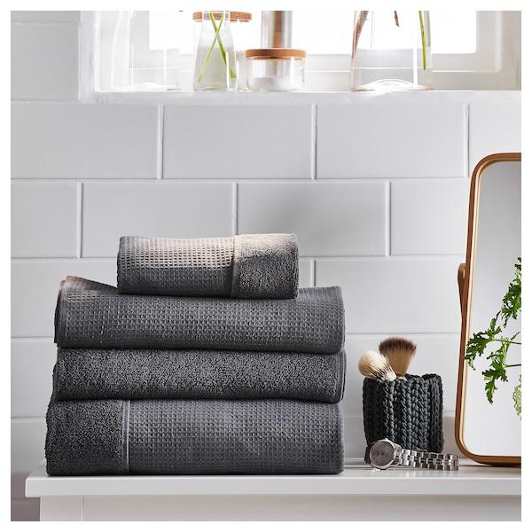 SALVIKEN Guest towel, anthracite, 30x50 cm