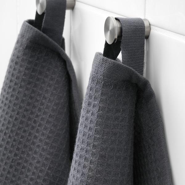 SALVIKEN Hand towel, anthracite, 50x100 cm