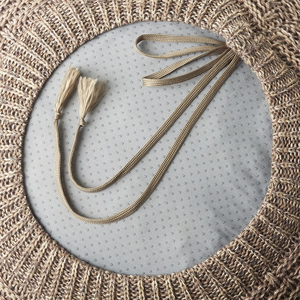 SANDARED pouffe beige 33 cm 45 cm