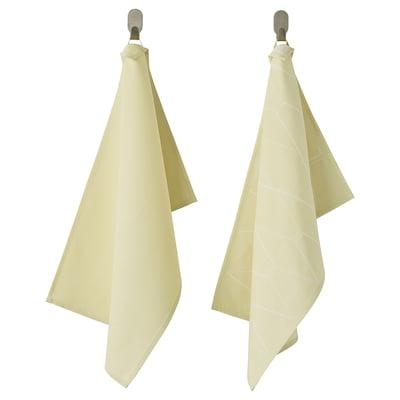 SANDVIVA Tea towel, yellow, 40x60 cm
