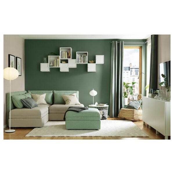 SANELA Cushion cover, light beige, 50x50 cm