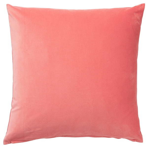 SANELA cushion cover light brown-red 50 cm 50 cm
