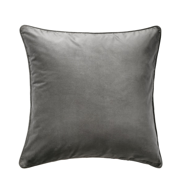 SANELA cushion cover grey 50 cm 50 cm