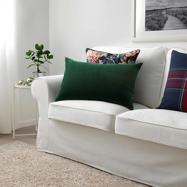 SANELA cushion cover dark green 40 cm 65 cm