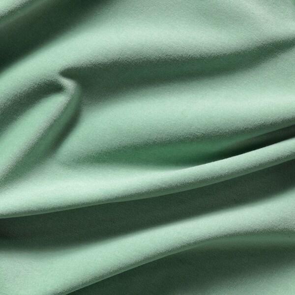 SANELA room darkening curtains, 1 pair light green 300 cm 140 cm 2.51 kg 4.20 m² 2 pack