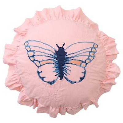 SÅNGLÄRKA Cushion, butterfly patterned